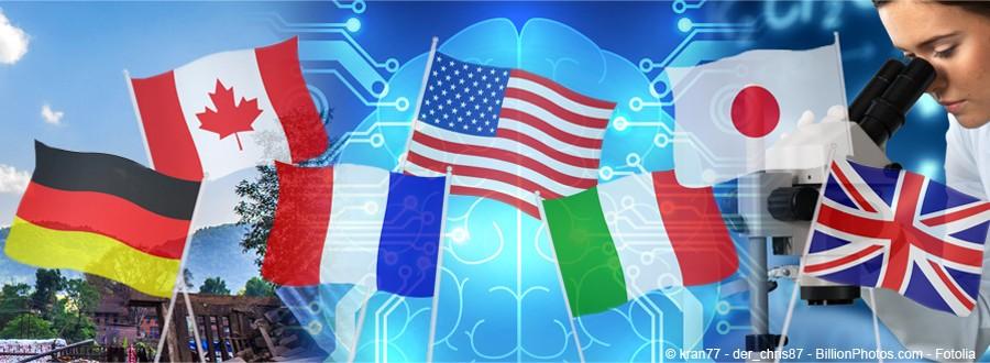 Composition avec drapeaux du G7