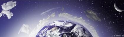 Vue de l'océan depuis l'espace