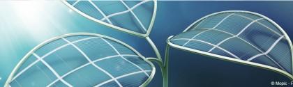 Feuille artificielle à panneaux solaires
