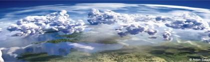 Vue de l'atmosphère