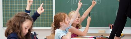 Leçon de mathématique à des enfants