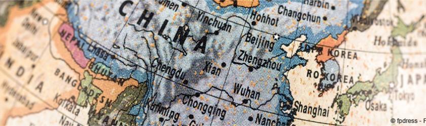 Map monde avec zoom sur l'Asie
