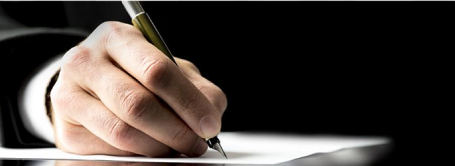 Signature d'une lettre