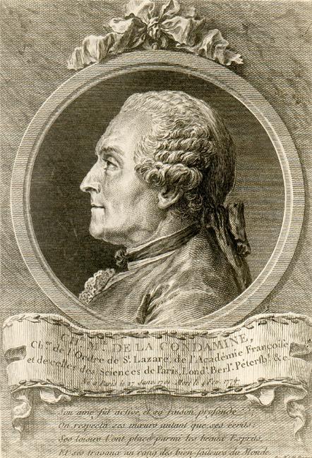 Portrait de La Condamine (Cochin Le Jeune et Choffard, années 1750-1760)